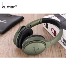 Kuman 스포츠 헤드셋 스테레오 무선 헤드폰 전화 PC 게임 YL-HH7에 대 한 3.5mm 변환 라인 HIFI 블루투스 이어폰