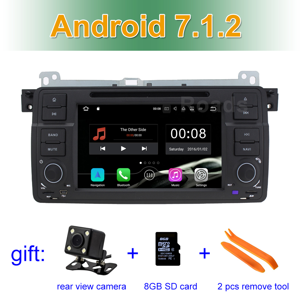2 GB RAM Android 7.1 Car DVD Player GPS for BMW 3 Series E46 M3 Rover 75 MG ZT with BT Wifi Radio Canbus
