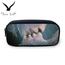 Hynes Eagle Women Makeup Bags Kiss Pencil Bags Multifunction Large Girls Cosmetic Change Purse Foldable Pencil Bag School Bags