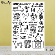 ZhuoAng Animal atlas Transparent Clear Silicone Stamp/Seal for DIY scrapbooking/photo album Decorative clear stamp