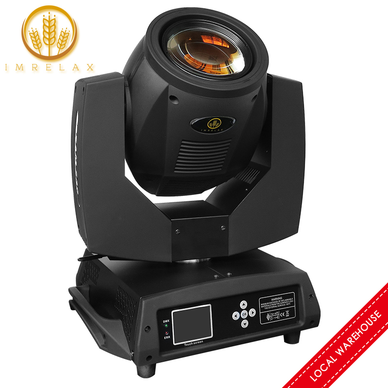 IMRELAX Double Prism Sharpy Beam 230W 7R Moving Head Light With G-clamp Base Fast Silent Beam 230 Beam 7R Stage DJ Disco Light