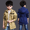Boys Hooded Jackets Stars Cotton Coats For Boys Clothing Children Outerwear 4 6 8 10 11 12 Years Boys Trench Christmas Clothes