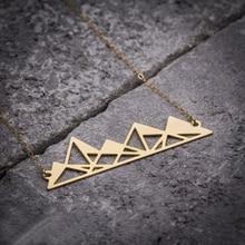 NianDi Hollow Out Mountain Necklace Unique Geometric Necklace Pyramids Mountains Necklace & Pendants Party Accessories YLQ0552