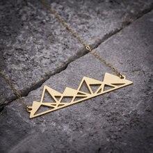 Niandi ажурное ожерелье из гор уникальное геометрическое пирамиды