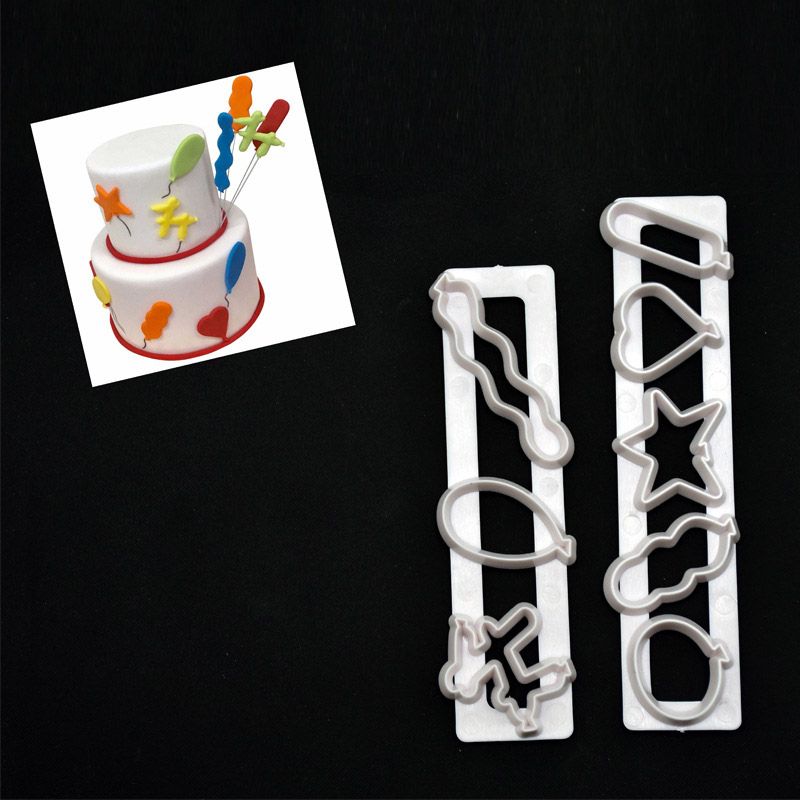2Pcs Plastic Baking Mold Kitchen Biscuit Cookie Cutter Pastry 3D Stamp Die Fondant Cake Decor Tools TB Sale