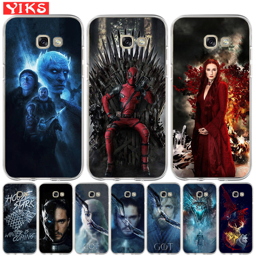 Game Thrones Got Stark Family Soft TPU Case For Samsung Galaxy A20 A30 A50 A3 A5 A6 A7 A8 Plus 2015 2016 2017 2018 Cover image