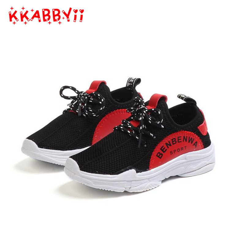 Spring Autumn Kids Sneakers Boys Shoes Mesh Breathable Sport Running Children Shoes Outdoor School Student Footwear