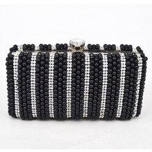 Two Sided Perlen Mode Exquisite Perlen Abendtasche Edle Elegante Perle Handtaschen Schultertasche Schwarz Perle Z13