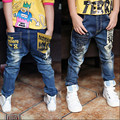 Бесплатная доставка, Новогодний подарок, джинсы мальчик для детей носить модный стиль и высокое качество дети джинсы, дети джинсы + мальчиков джинсы
