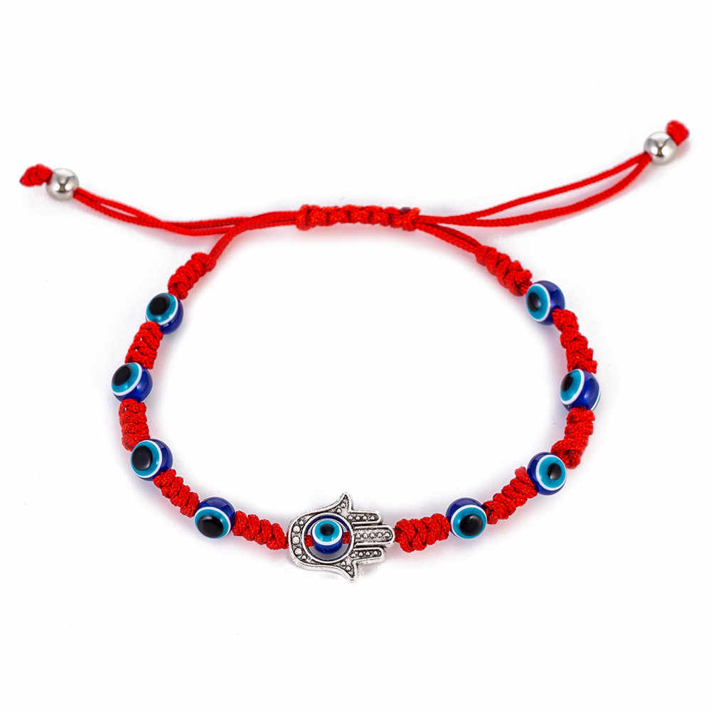 red eye Red String Kabbalah Evil Eye Charm Bracelets for Protection and Luck Adjustable Hand-Woven Red Cord Thread Friendship Bracelet Amulet Jewelry