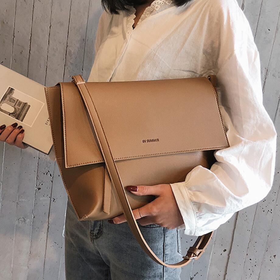 Винтажная модная женская сумка с клапаном, 2019, новая качественная женская дизайнерская сумка из искусственной кожи, большая сумка через плечо, Bolsos Mujer|Сумки с ручками| | АлиЭкспресс
