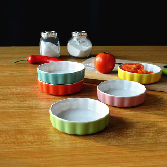 100 Ml Color Ceramic Dish And Plate Oven Microware Safe Snacks Tableware Candy Tray