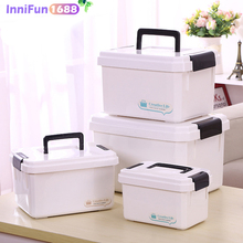 Household portable medicine box( SMALL SIZE ) multi-grid multi-function plastic storage box hospital pharmacy
