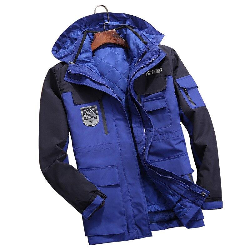Trois Chaud Air ivory Vêtements Vessie blue Démonté Hiver orange Interne Black En un Mettre Alpinisme Veste Plein White Peut Camping Et À Travers Hommes en Être D2IHE9