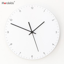 Mandelda Wall Clock 12 Inches Silent Home Decoration Accessories Modern Clocks Electronic Design for Living Room