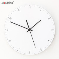 Mandelda Wall Clock 12 Inches Silent Home Decoration Accessories Modern Wall Clocks Electronic Modern Design for Living Room