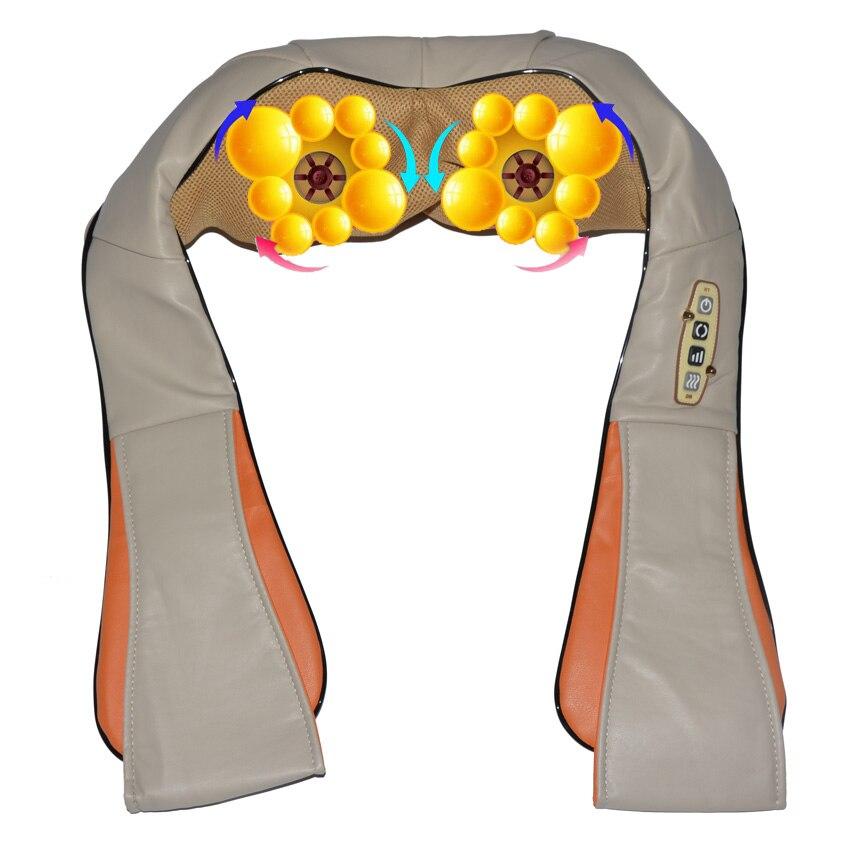 Amkee Casa Carro Elétrico Massager Do Corpo Massagem de Relaxamento U Forma Neck Voltar Ombro Shiatsu Amasso Massager Infravermelho 3D