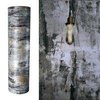 Gunmetal Textured Self Adhesive Wallpaper Decor Film Vintage Contact Paper Decals Sticker