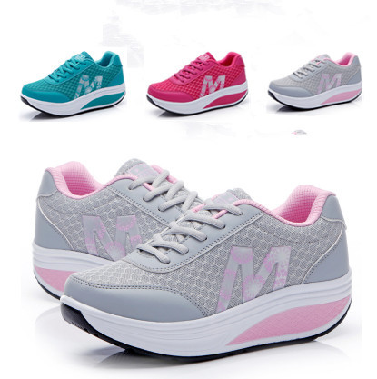 ec1618d47a61 Free shipping! women s new fashion high heel sneaker women s sports shoes