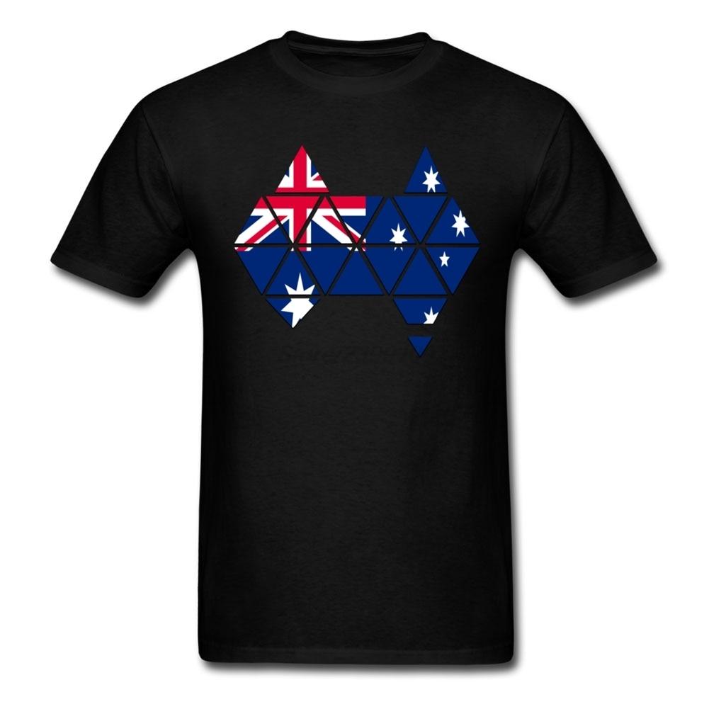Shirt design online australia - Customized Round Neck 100 Cotton Australian Flag Australia Map Men Short T Shirt Large Size