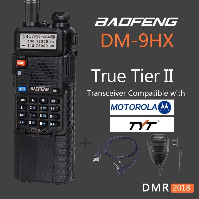 Woki Toki Baofeng uv-5r Niveau II numérique DMR radio DM-9HX vhf uhf radio bidirectionnelle talkie walkie sœur baofeng uv-82 10