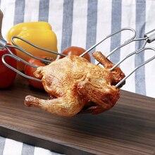 1 шт. вилка для переворачивания индейки из нержавеющей стали печь для жарки птицы вилка для курицы Инструменты для барбекю