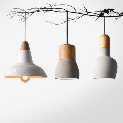 Здесь можно купить   American Country Style Wooden Cement Pendant Light 180cm wire E27 / E26 Droplight 4 colors wood indoor Decoration Hanging Lamp Строительство и Недвижимость