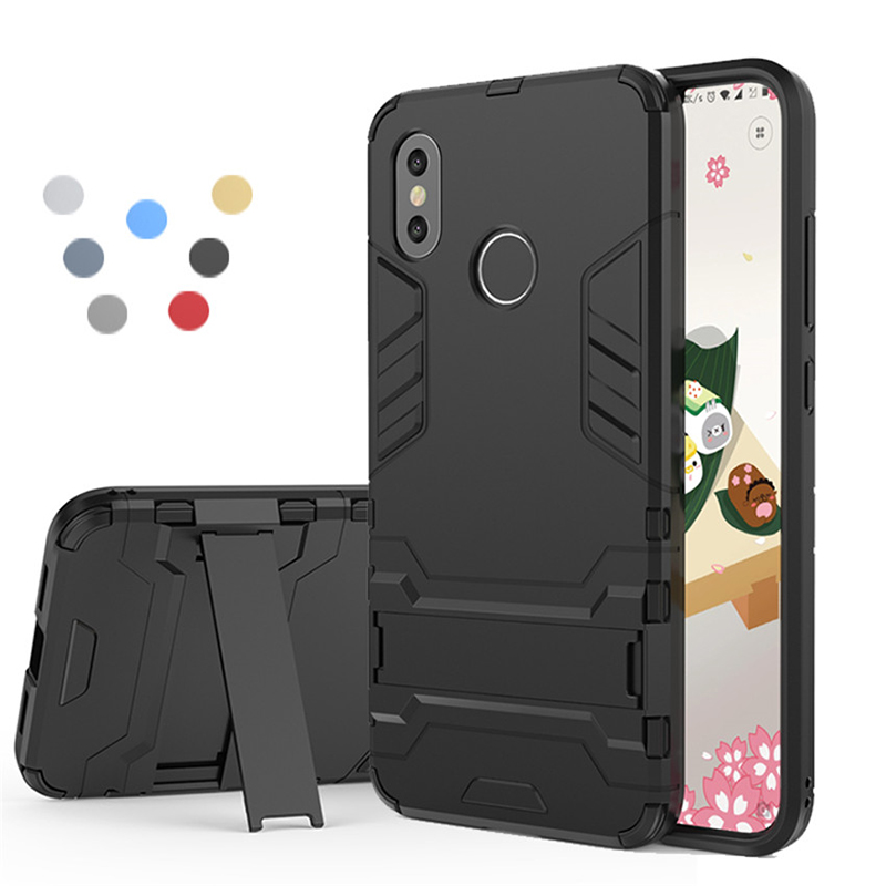 For <font><b>Xiaomi</b></font> <font><b>Mi</b></font> 8 6 6X 5X A1 A2 Mix 2 2S Max2 5c Case Shockproof Armor Stand Phone Cases For <font><b>Mi</b></font> Redmi s2 4A 4X Note 5 5A Pro plus image
