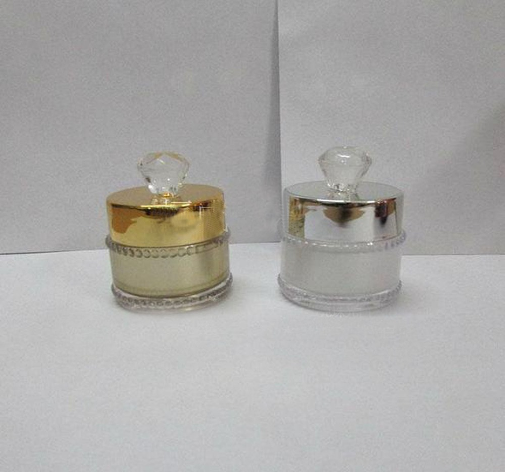 5g clear  round gold silver acrylic cosmetics packing bottle,Cream box / bottle 5g clear round heart shaped acrylic cosmetics packing bottle cream box bottle