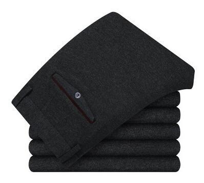 Осень и зима высокое качество плюс Руно повседневные брюки мужские Тонкие брюки сгустите теплые брюки Мужские Классические Бизнес-Брюки