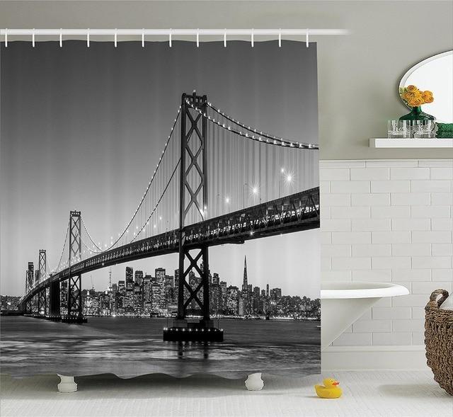 San Francisco Bay Bridge Californie USA Touristique Rideau De Douche ...