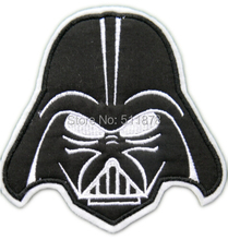 """7"""" Darth Vader Applique Film Movie TV Series Costume LARGE Felt Embroidered sew on iron on patch TRANSFER MOTIF"""