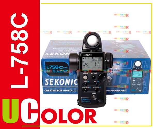 Sekonic L-758 Cine DIGITALMASTER L-758C Light Meter Flash Master
