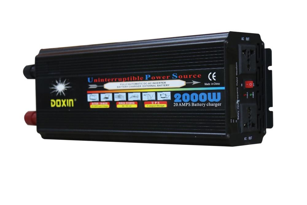 2000W DC12V to AC220V / DC24V to AC220V LCD display Modified Wave <font><b>UPS</b></font> Inverter with 20A battery <font><b>charger</b></font>