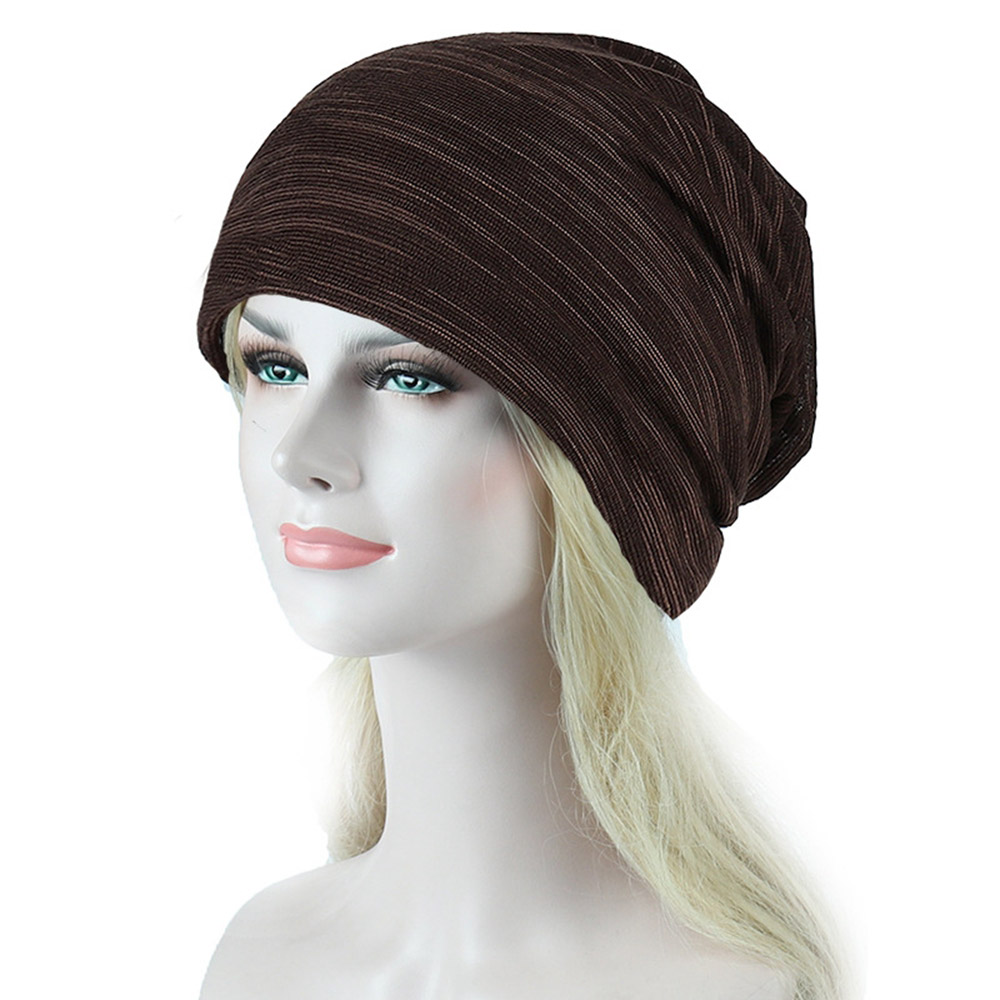 New Cotton Hats For Women Winter Striped   Skullies     Beanies   Men Rasta Hats Striped Unisex Hip Hop Cancer Chemo Hat