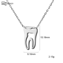 My Shape Stainless Steel Tooth Model Tiny Girls Necklaces Gift Simple Necklace Bracelet Sets Dainty Jewelry for Girlfriend