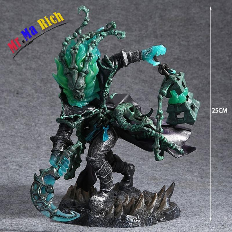 Hit Online Game Lol The Chain Warden Thresh Shadow Pvc Action Figure 25cm High Quality Collectible Toy neca planet of the apes gorilla soldier pvc action figure collectible toy 8 20cm