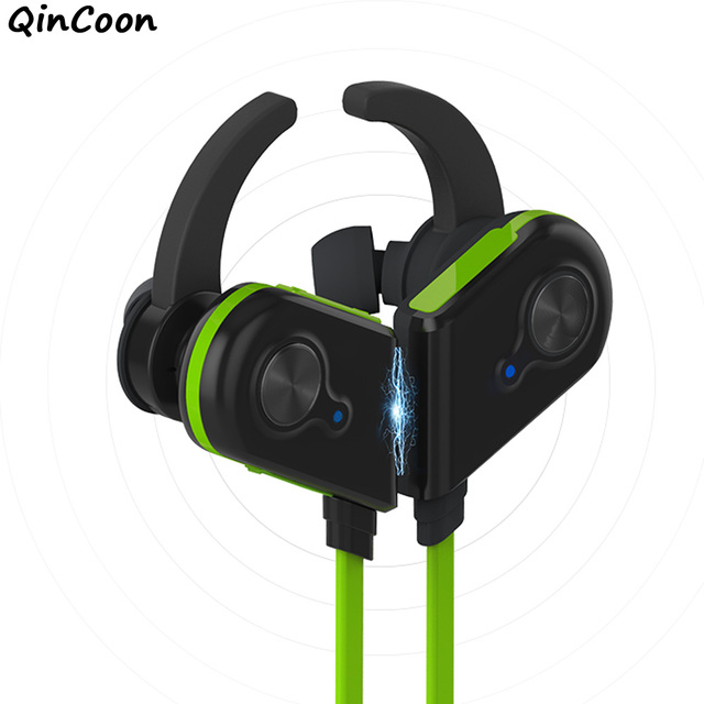 Magnetic Switch Wireless Headset Bluetooth HIFI Headphones Lightweight Sweatproof Sport Earphones Earbuds w/Mic for iPhone Phone
