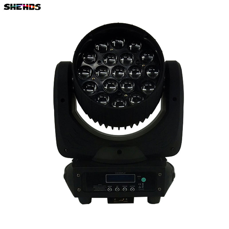 2pcs/lot LED Moving Head 19x15W RGBW Wash/Zoom Stage Light Professional DJ/Bar LED Stage Machine DMX512 LED Zoom Beam 10pcs lot cheap stage light 36 15w 5 in 1 led zoom moving head wash light rgbwy color mixing dmx512 lighting control