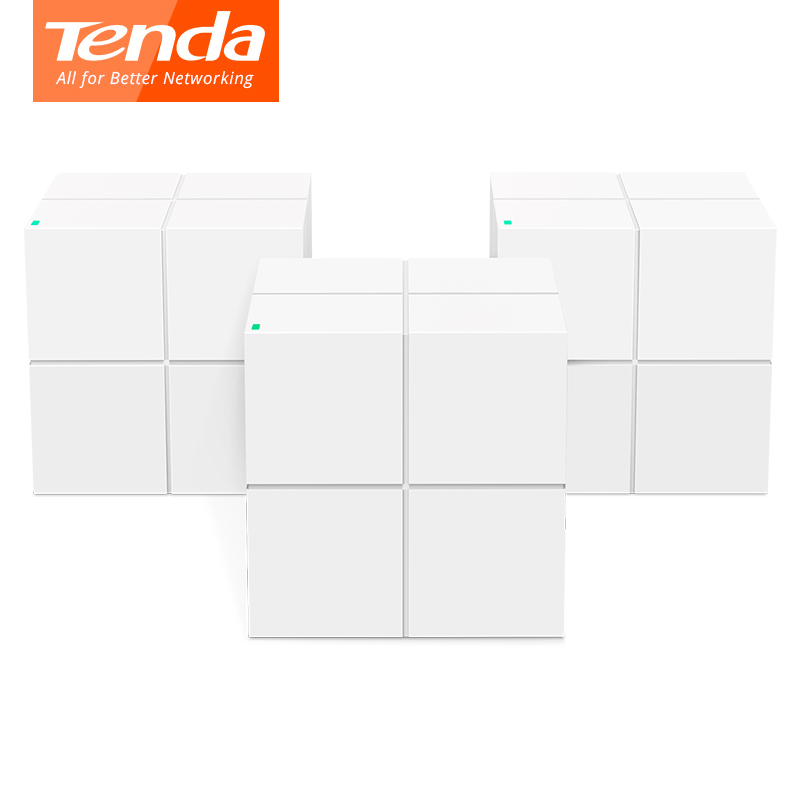 Tenda Nova MW6 WiFi Gigabit Router Whole Home Mesh WiFi System with 11AC 2.4G/5.0GHz Wireless WI FI Repeater, APP Remote Manage