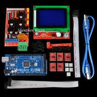 Mega 2560 R3 Mega2560 REV3 3D Printer Kit + RAMPS 1.4 Controller + RAMPS1.4 LCD 12864 LCD for Reprap MendelPrusa Free Shipping