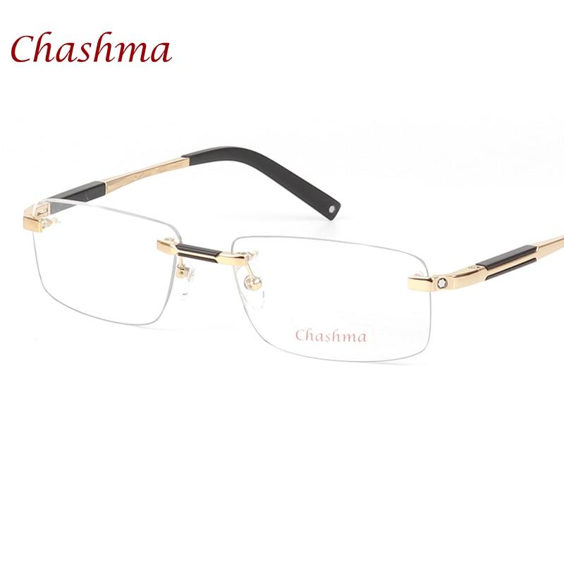 Chashma Brand Designer Titanium Glasses Rimless Mans Optical Glasses Frame Myopia Business Frameless Eyeglasses Frame Man