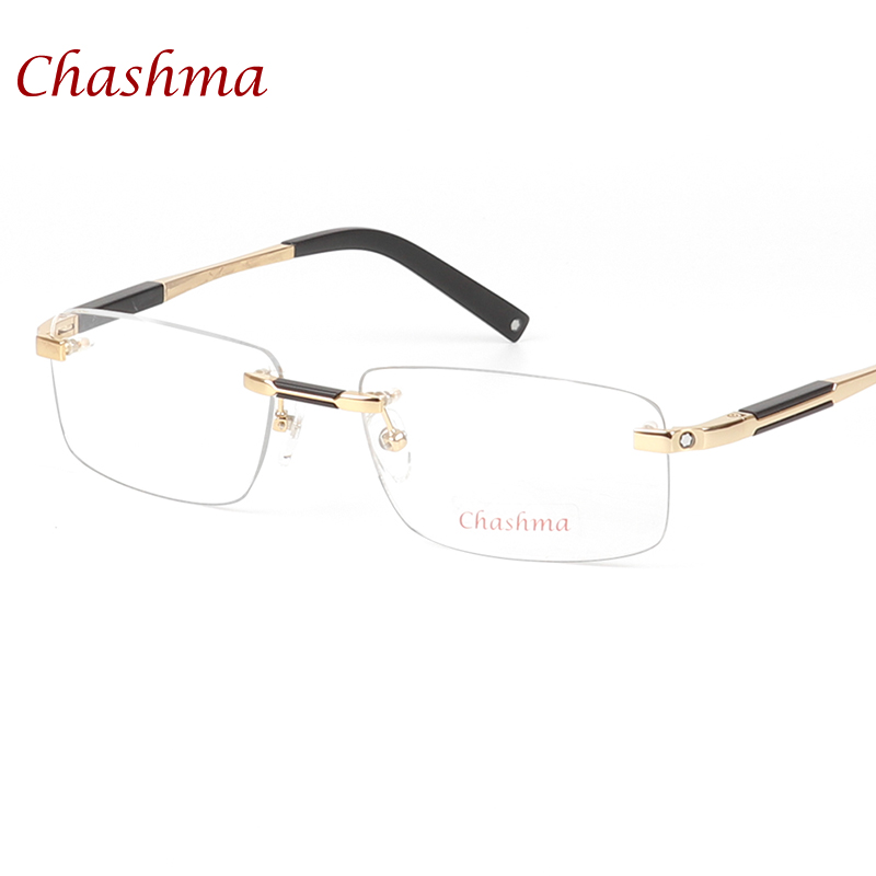 Chashma Brand Designer Titanium Glasses Rimless Mans Optical Glasses ...