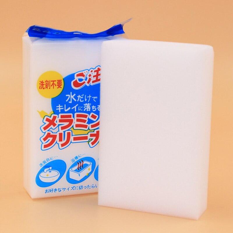1 Pc 11*7*2,3 Cm Blanco Cocina Magia Borrador Melamina Esponja Mágica Limpiador De Melamina Respetuoso Con El Medio Ambiente