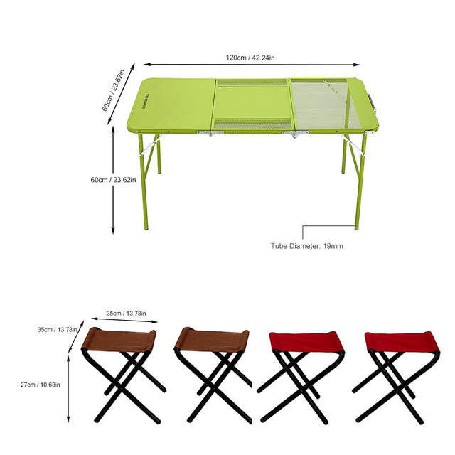 folding chair desk combo covers rental prices online shop ikayaa two heights set trible treble table with four chairs picnic
