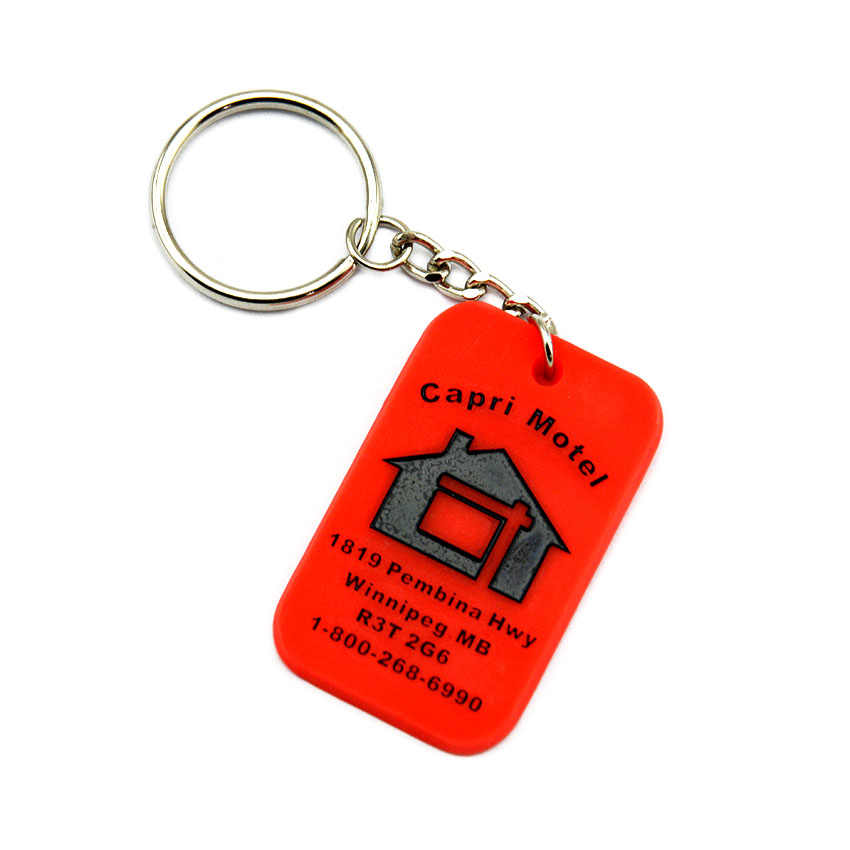 OneBandaHouse Customize Design Your Own Logo Silicone Rubber Keychains