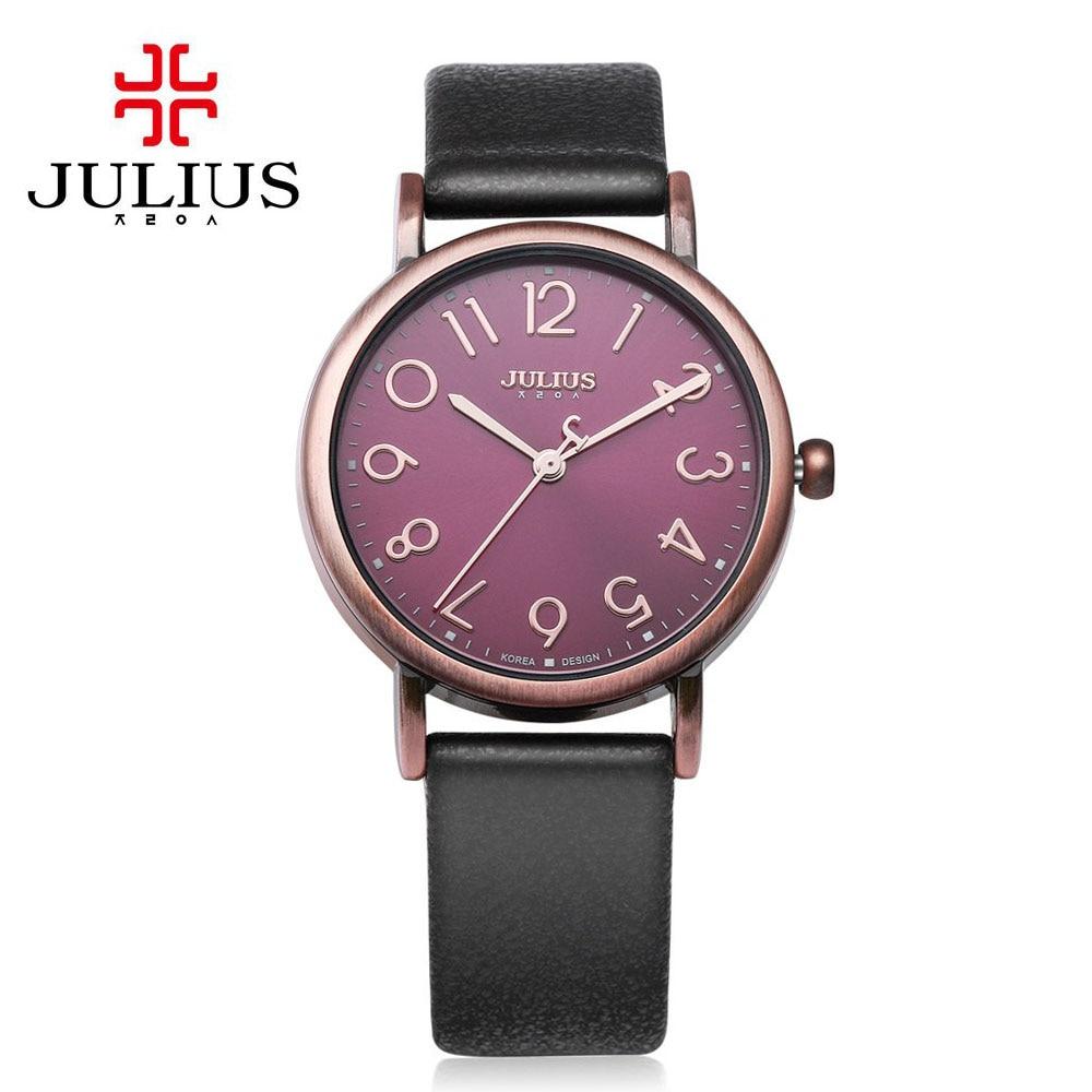 2017 JULIUS Quartz Brand Lady Watches Women Luxury Antique Square Leather Dress Wrist Women watch Relogio