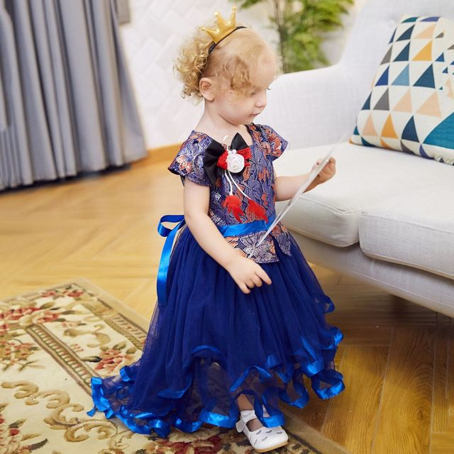 73d44cf04 Exclusive Customization Sweet Flower Girls Princess Dress Kids Party  Wedding Pageant Formal Flower Embroidered Tulle Tutu Dress