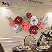 Creative pendant wall decoration stereo iron living room wall flowers