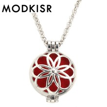 MODKISR Wholesale High Quality 30mm Trendy Sophisticated Simple Classic  Essential Oil Diffusing Necklace Aroma Locket Pendant 3b531217614c